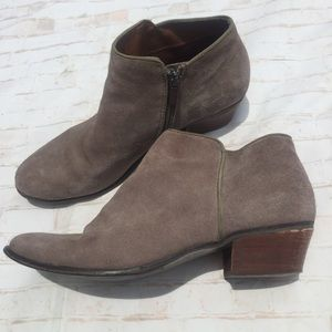 Crown Vintage Leather Upper Taupe Booties Shoes
